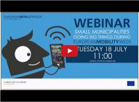 EUROPEAN<strong>MOBILITY</strong>WEEK Webinar addresses participation of smaller municipalities